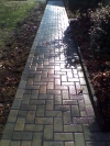 Hardscape brick walkway