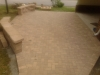 Hardscape patio with freestanding walls